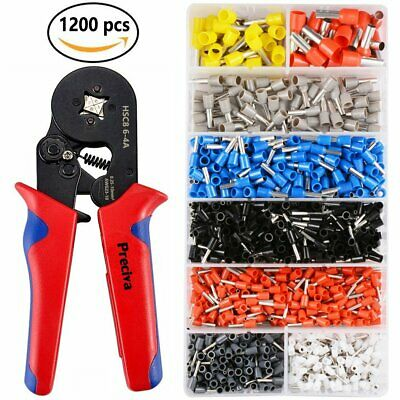 Ferrule Crimper Crimping Plier Tools Kit 1200pcs Wire Terminal Connector Set UK