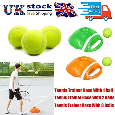 UK Solo Tennis Trainer Training Practice Rebound Ball Back Base Tools with Ball