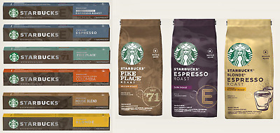 Starbucks Original Nespresso - capsules and coffee beans - All Flavors
