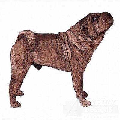 Large Embroidered Zippered Tote - Shar Pei AD217