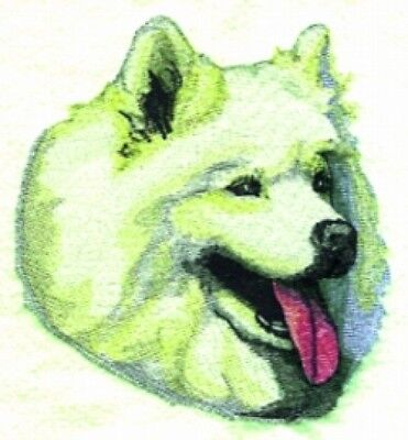 Large Embroidered Zippered Tote - Samoyed BT2361