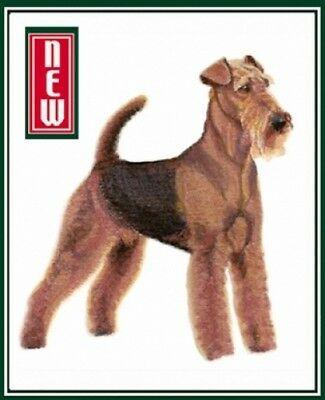 Large Embroidered Zippered Tote - Airedale Terrier BT7061