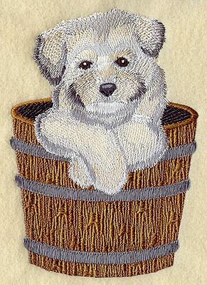 Large Embroidered Zippered Tote - Havanese I1278