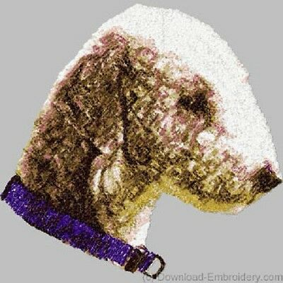 Large Embroidered Zippered Tote - Bedlington Terrier DLE1479