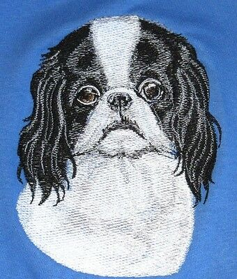 Large Embroidered Zippered Tote - Japanese Chin BT3586