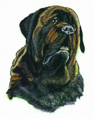 Large Embroidered Zippered Tote - Mastiff BT2295