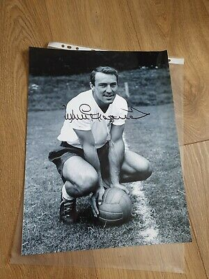 Jimmy GREAVES Signed Autograph England & Spurs Legend 16x12 Photo