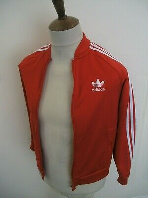 RETRO ADIDAS TRACKSUIT TOP SIZE AGE 11-12 YEARS red