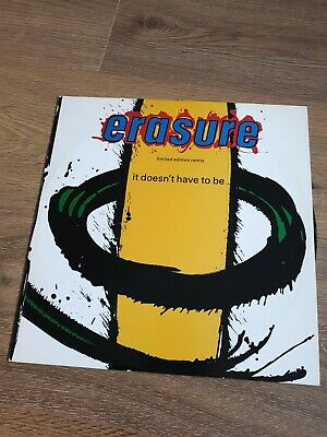 "Erasure It Doesnt Have To Be  Limited Edition Remix  12"" Single L12 Mute 56"