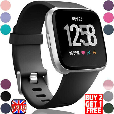 Replacement Silicone Sport Watch Wrist Band Strap For Fitbit Versa 2 Versa Lite