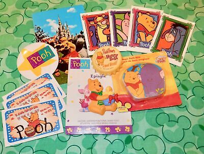 LOT of 12 DISNEY Winnie the Pooh ITEMS -MAGNET PIN STICKERS POSTCARD MAGICTOWEL