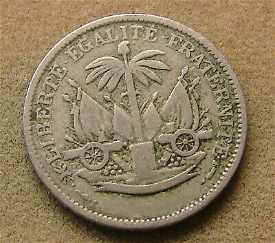 RARE~~~HAITI---1904 5 Centimes Coin--1st Year Mintage, Struck in the USA