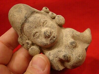 Pre Columbian Female Figurine. Jama Coaque Culture Authentic 500 Bc- 500 A D