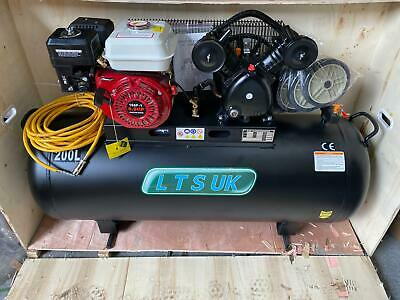 AIR COMPRESSOR 200 LTR NEW  PETROL ENGINE 5.5 HP NEW 2 YEAR WARRANTY new