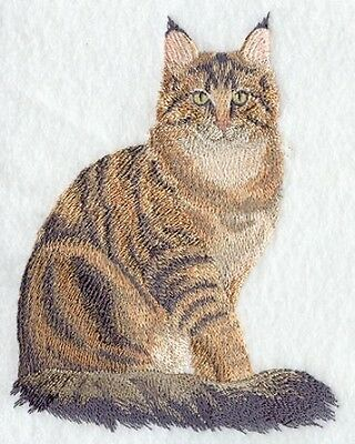 Large Embroidered Zippered Tote - Maine Coon Cat C7917