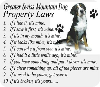 MOUSEPAD - Greater Swiss Mountain Dog - Computer Desk PC Laptop Gaming Mouse Pad