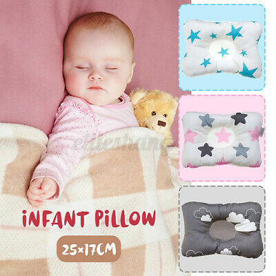 Baby Infant Newborn Prevent Flat Head Pillow Anti-Roll Syndrome Support
