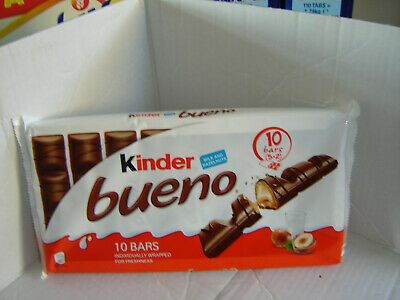 Kinder Bueno milk and hazelnut  PACK OF 5 TWIN BARS 43 GMS EACH