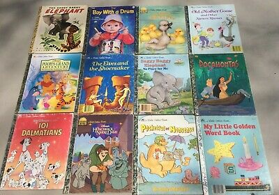 Vintage Little Golden Books LGB Lot of 12 Many 1940's -1990's Rare Editions