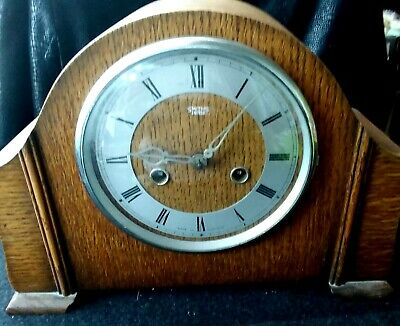 Vintage 1930's Smith Enfield Oac Cased Mantle Clock