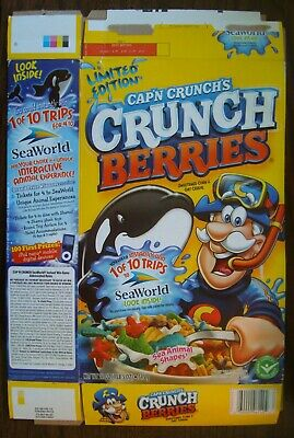 Cereal Limited Edition Cap'n Crunch's Seaworld Sea Animal Shapes-2009 Cereal Box