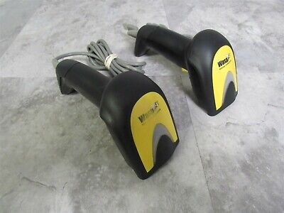 Lot of 2 Wasp WLS9600 Laser Handheld Barcode Scanner w/ USB Cable