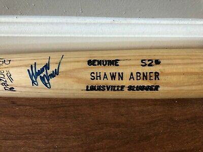 Shawn Abner Signed Game Issued Baseball Bat #1 Overall Pick San Diego Padres