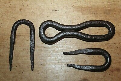 Original Antique Wrought Iron Hasp & Staple/Lock~Hand Forged~Plank Door~Small~