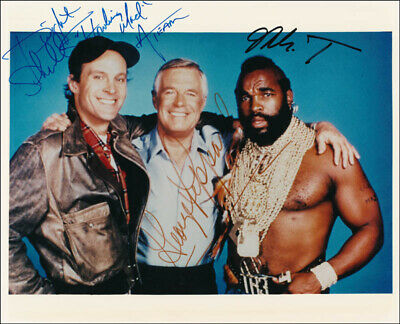 The A-Team Tv Cast - Autographed Signed Photograph With Co-Signers