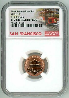 2018S Lincoln Penny 1¢ Reverse Proof Ngc Pf70Rd First Releases Sku C22