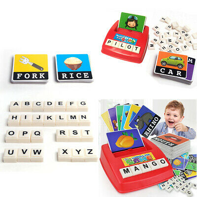 Baby Montessori Early Learning Educational Toy English Spelling Alphabet Game US