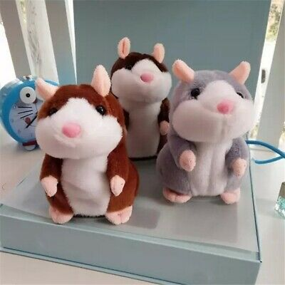 UK Talking Hamster Cute Nod Mouse Record Chat Mimicry Pet Plush Toy Xmas Gift