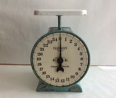 Vintage Hanson Brothers Scale Co. 25 Lb. Produce / Meat Scale
