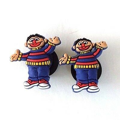 Ernie Croc shoe charms (2) Sesame Street new