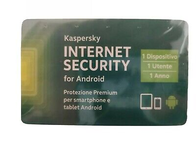 KASPERSKY INTERNET Security 2020 PER ANDROID 1 USER 1 ANNO ORIGINALE
