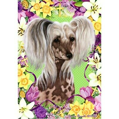 Easter House Flag - Chinese Crested 33069