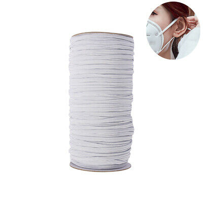 QUALITY White Flat Elastic Cord 6mm For Sewing face Masks thin narrow