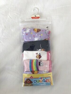 5-6 Years Hey Duggee Girls Briefs Pants Knickers 5 Pack New Pink Lilac