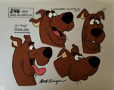 Hanna Barbera:Scooby Doo Hand Painted Model Cel Signed by Bob Singer