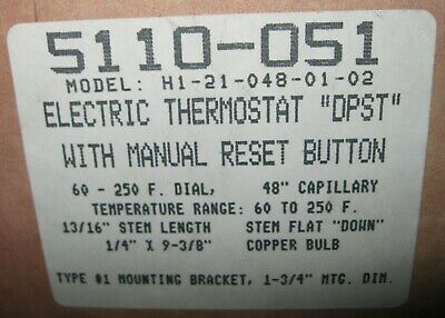 Robertshaw H1-21-048-01-02 Electric Thermostat 5110-051