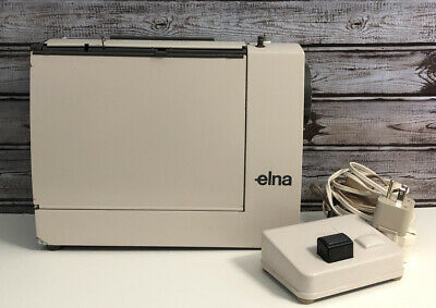 Elna Lotus ZZ Portable Sewing Machine NOT WORKING FOR PARTS OR REPAIR W/ Pedal