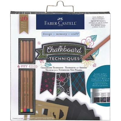 Faber-Castell Chalkboard Techniques Kit - Pastel Pencils, Drawing, Stencilling