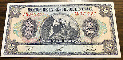 Choice Uncirculated Haiti Currency Two Gourdes