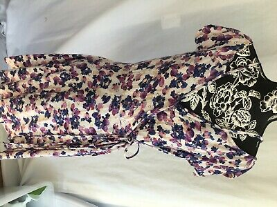 womens Angie summer white,pink & purple floral dress in a size large