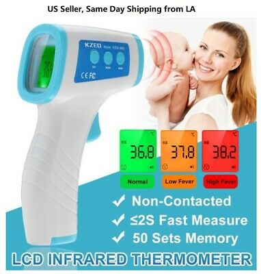 Instant Touch-less Digital Infrared Forehead Thermometer, LCD Display