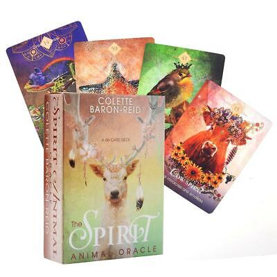 68PCS The Spirit Animal Oracle Cards Tarot Cards Home Family Party Board Game