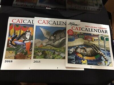 Kliban Large 2015 2017 2018 Calendar Lot with Stickers!