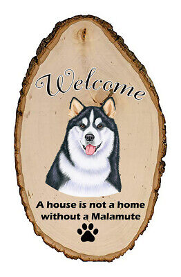 Outdoor Welcome Sign (TP) - Alaskan Malamute 94147