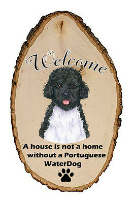 Outdoor Welcome Sign (TP) - Portuguese Water Dog 94120