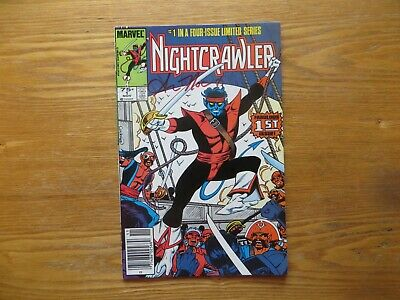 1986 Vintage Marvel X-Men Nightcrawler # 1 Signed By Ann Nocenti, With Poa